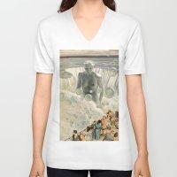 bath V-neck T-shirts featuring THE BATH by Julia Lillard Art
