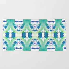 Inky Ocean Beach Towel