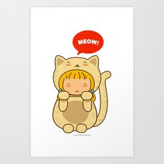Lucky Cat Art Print