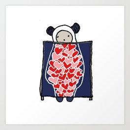 Heart Scan Art Print