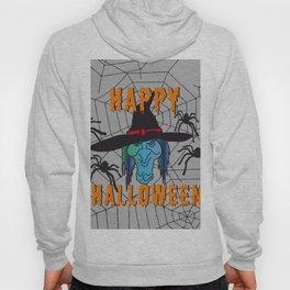 turquoise Witch Happy Halloween Hoody