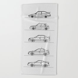 GROUP A RALLY CARS Beach Towel