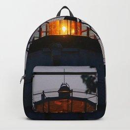 Hazy Lighthouse Morning Backpack