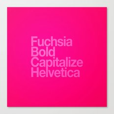 MetaType Fuschia Canvas Print