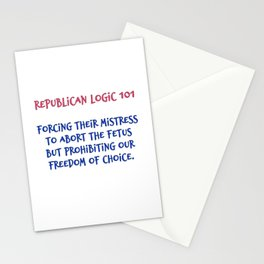 Republican Abortion Logic Stationery Cards