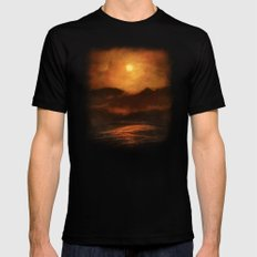Sunset 2X-LARGE Mens Fitted Tee Black