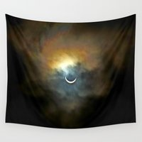 tits Wall Tapestries featuring Solar Eclipse 2 by Aaron Carberry