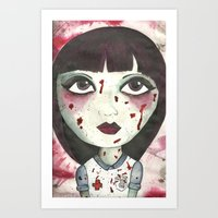 nurse Art Prints featuring Nurse by Kitty Judge