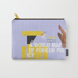 A World Map of Foreign Policy (book jacket cover) Carry-All Pouch