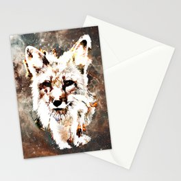 Space Fox no4 Stationery Cards