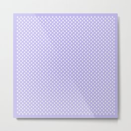 Animal Paw Prints On Lavender Metal Print