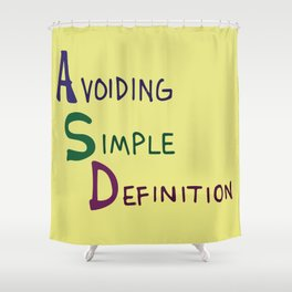 ASD Acronym Shower Curtain