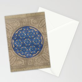 Flower of Life Mosaic Tile Ornament N2 Stationery Cards