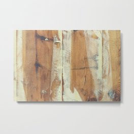Wood planks shipboard Metal Print
