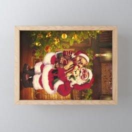Santa Claus 3 Framed Mini Art Print