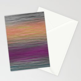Ombre Blended Dusty Pastel Fiber Lines Stationery Cards