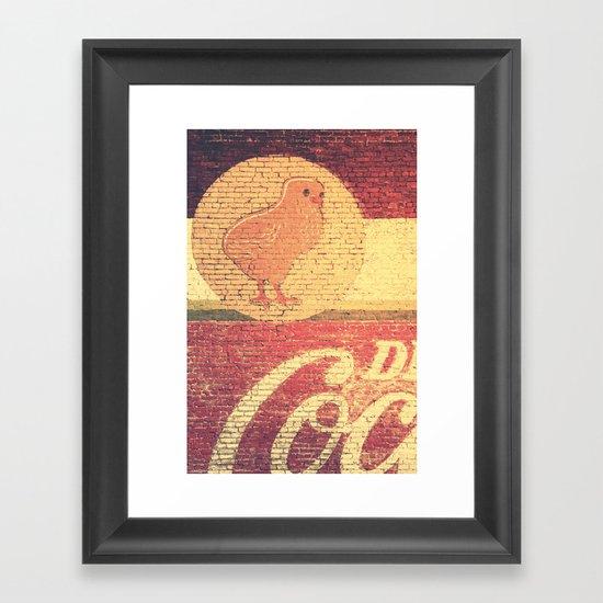 Chicks & Coke Framed Art Print