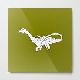Apatosaurus Dinosaur Design Metal Print