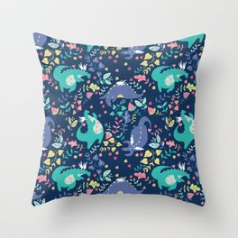 Delightful Dragons Throw Pillow