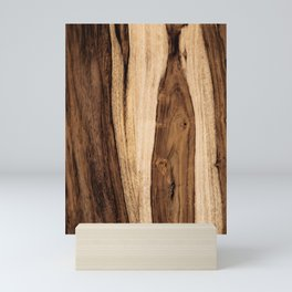 Sheesham Wood Grain Texture, Close Up Mini Art Print