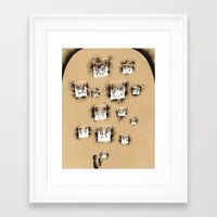 lanterns Framed Art Prints featuring Lanterns by Landon Oberg (Nafnlaus)