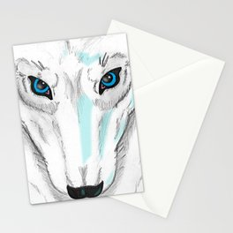 Darrell Merrill Nerd Artist Winter Wolf Stationery Cards