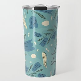 Blue Forest Flower. Magical Forest Travel Mug