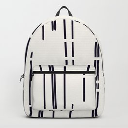 Abstract broken lines - black on off white Backpack