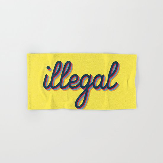 Illegal - yellow version Hand & Bath Towel