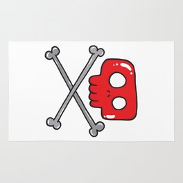 Cute little pirate sign Rug