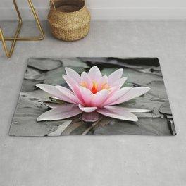 Pink Lotus Flower Waterlily Rug