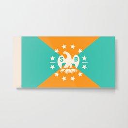 miami snowbird flag Metal Print