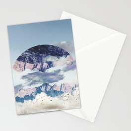 Abstract Mountains Stationery Cards