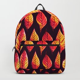 Vibrant autumn leaves pattern Backpack