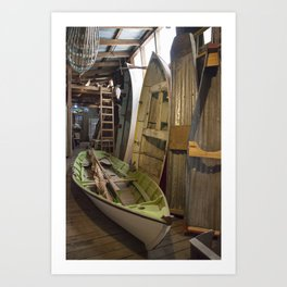 The Old Boat Shed Art Print