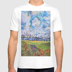 Lost In the clouds Mens Fitted Tee White MEDIUM