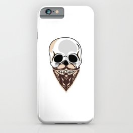 Cool Skull With Beard Skull Hipster iPhone Case