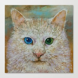 White Cat Canvas Print