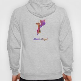 Mozambique in watercolor Hoody