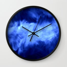 Ultraviolet Purple Lavender White Abstract Brush Strokes Wall Clock