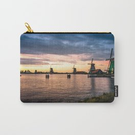 Windmills at sunset Carry-All Pouch