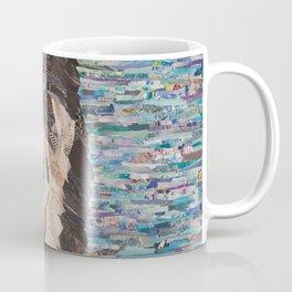 husky on blue background Coffee Mug