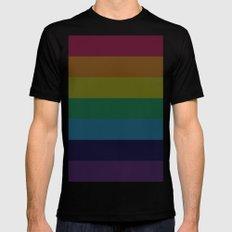 Rainbow Black Mens Fitted Tee MEDIUM