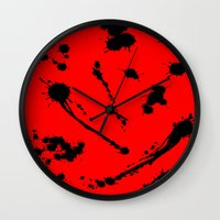 blood Wall Clocks featuring Blood by Holy Spoof