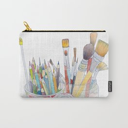 Art Tools: pencils and brushes (ink & watercolour) Carry-All Pouch
