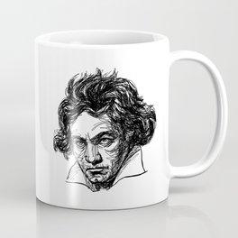 Ludwig Van Beethoven line drawing Coffee Mug