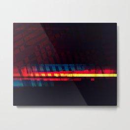 Abstract Communication Pattern Metal Print