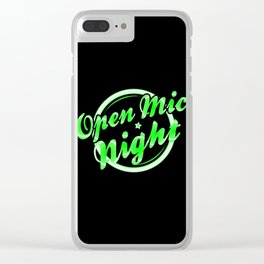 Open Mic Night Florescent Light Clear iPhone Case
