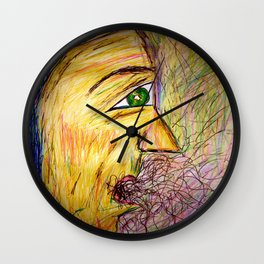 A Hawk in The Jar. Wall Clock