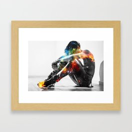 Hallo, Spaceboy Framed Art Print